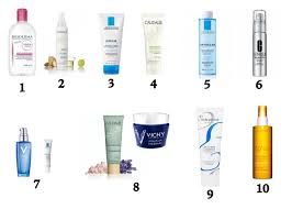 french skincare routine 1 makeup remover 2 cleansing oil 3 gel cleanser 4 exfoliator 5 tonic toner 6 essence 7 serum spot treatment 8