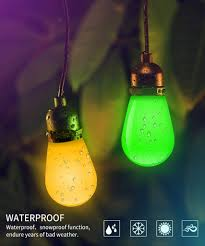 they are rgb led lights so they can combine the red green and blue colors to produce virtually any hue of light although the string consumes little