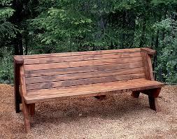 rustic outdoor bench