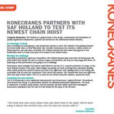 clx electric chain hoists konecranes usa Kone Crane Wiring Diagram in early 2013, saf holland partnered with konecranes to try out its new chain hoist, the clx, a proven performer in europe, at the most difficult location kone crane remote control wiring diagram