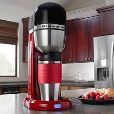 Kitchen With Red Appliances Kitchenaid Kcm0402er 4 Cup Personal Coffee Maker Empire Red