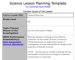 sample lesson plan outline how to write ngss lesson plans albert io