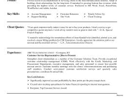 Sample Resume For Customer Service Representative Telecommunications Templates Breathtaking Customer Service Resume Skills Sample Nursing 16