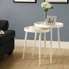 modern accent tables. Chelsea Modern Round Nesting Tables In White | Side Table Decorating Accent