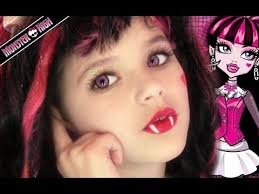 draculaura monster high doll costume makeup tutorial