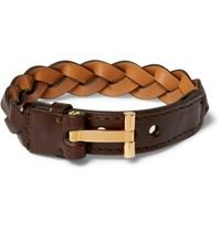 tom ford watches jewelry for men nuji tom ford woven leather and gold plated bracelet dark brown