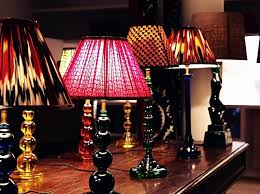 astounding silk lamp shades for table lamps many types and diffe colors and patterns on the wooden table