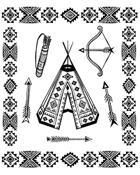 Small Picture Native American Coloring pages for adults coloring page native