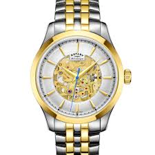 rotary mecanique two tone bracelet watch gb05033 06 rotary watches rotary mecanique two tone bracelet watch gb05033 06