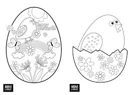 Free Preschool Easter Coloring Pages Childrens Ministry Egg Eggs For