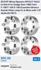 Required That You Check Your Vehicle Compatibility In Product Description Before Buying 4 Brand New Wheel Spacers Dodge Ram 1500 Ram 1500 2001 Dodge Ram 1500