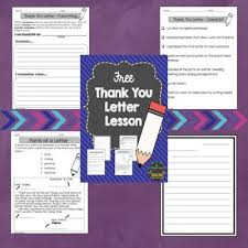 Lined Letter Writing Paper Stunning Free Thank You Letter Lesson Classroom Freebies Pinterest