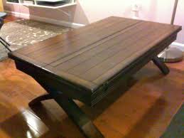 ... Coffee Table, Cozy Dark Brown Rectangle Traditional Wooden Fold Out Coffee  Table Ideas As The ...