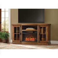 tv stand w bluetooth electric fireplace in oak