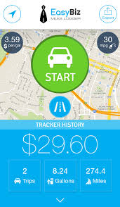business mileage tracker easybiz mileage tracker mileage reimbursement log for business