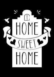 Small Picture Tekst poster Home sweet home