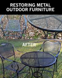 how to take your rusty outdoor metal furniture and re it to like new condition