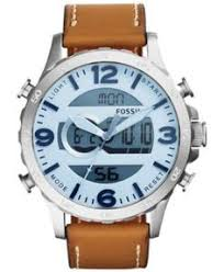 fossil q unisex connected watch ftw10003 women s watches fossil men s analog digital nate saddle leather strap watch 50mm jr1492 macys com