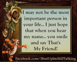 Quotes About Smile And Friendship Custom I Hope When You Hear My Name You Smile And Say That Is My Friend