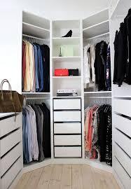 corner wardrobe small l shaped closet ideas