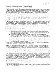 informal outline for essay