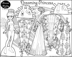Small Picture Dreaming Princess A Paper Doll Princess Coloring Page