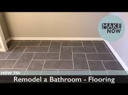 how to remodel a bathroom flooring