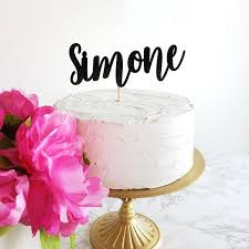 Custom Name Cake Topper 7238