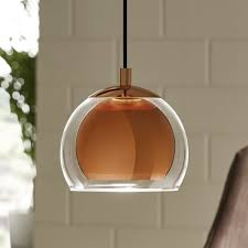 lighting in a kitchen. Rocamar Copper And Glass Single Pendant Lighting In A Kitchen