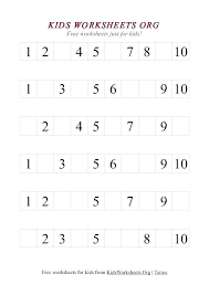 counting numbers 1 10 worksheets