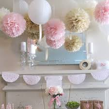 Flower Paper Lanterns Us 7 33 6 Off 11pcs Wedding Decoration Pom Poms Paper Lanterns Party Decoration Artificial Flowers Bridal Shower Decoration Supplies In Party Diy