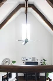 selected flush mount ceiling fan on slanted mail cabinet
