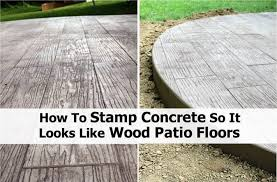 diy stamped concrete wood home design garden architecture blog diy patio