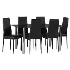 blair black glass dining table 6 x betty dining chair