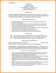 9 Model Resume Example Letter Setup