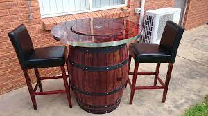 how to make a wine barrel table with a