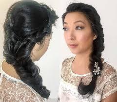 bridal braided hair and makeup at ftmakeup london