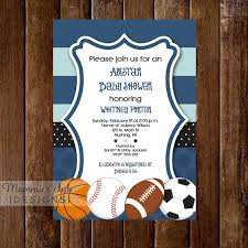 All Star Themed Baby Shower Invitation All Sports TicketBaby Shower Invitations Sports Theme