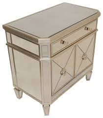 Mirrored bedside furniture Next Borghese Mirrored Bedroom Nightstand Houzz Borghese Mirrored Bedroom Nightstand Contemporary Nightstands