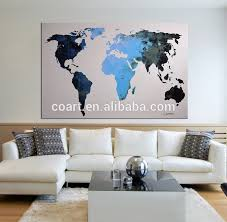 Modern Abstract Blue World Map Office Decor Canvas Wall Art Painting Buy Abstract World Map Art Painting Canvas Wall Art Office Decor Painting