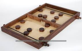 Wooden Puck Game Enchanting Pucket Disk Flicking Fun For Everyone Table Game