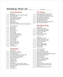 Wedding Photography Checklist Template Wedding Shot List Template Essential Elements To Be