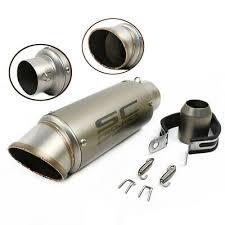 <b>36</b>-<b>51mm Universal Motorcycle Exhaust</b> Muffler Pipe Stainless Steel ...