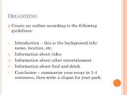formal essay descriptive writing ppt 3 organizing
