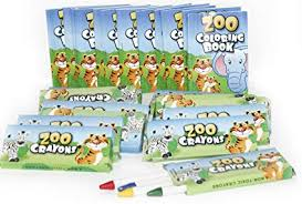 12 sets of zoo mini coloring books and crayons zoo party favors sets includes