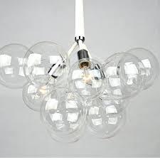 glass bubble light chandelier modern black white creative glass bubble pendant lamp light with inspirations home glass bubble light