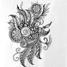 Tetování Ornament Kytka Body Kojenecké