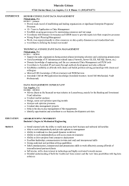 Management Consultant Resume Data Management Consultant Resume Samples Velvet Jobs 9