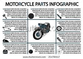 vector motorcycle parts infographic stock vector 214780117