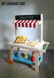 diy kids lemonade cart